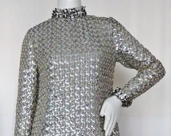 "1960s Futuristic Metallic Fantasy by  ""Joan Leslie by Kasper"" for Bonwit Teller"