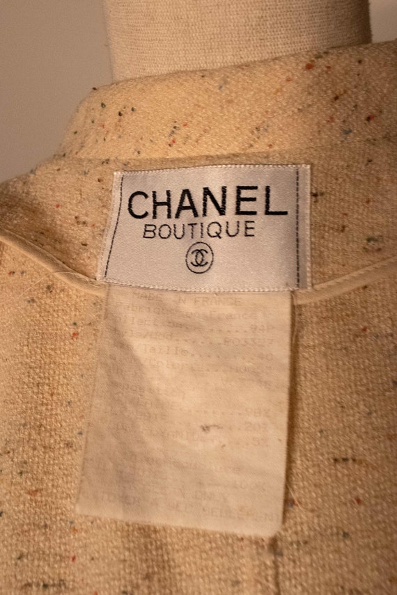 Chanel cream boucle two piece pant suit - image 7