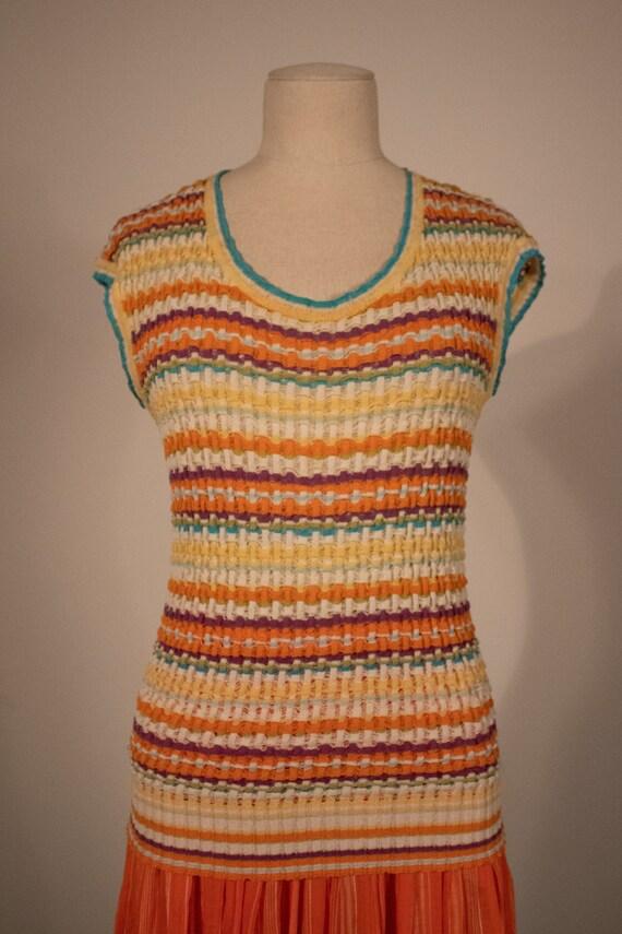 Missoni multicolor striped lightweight knit tank