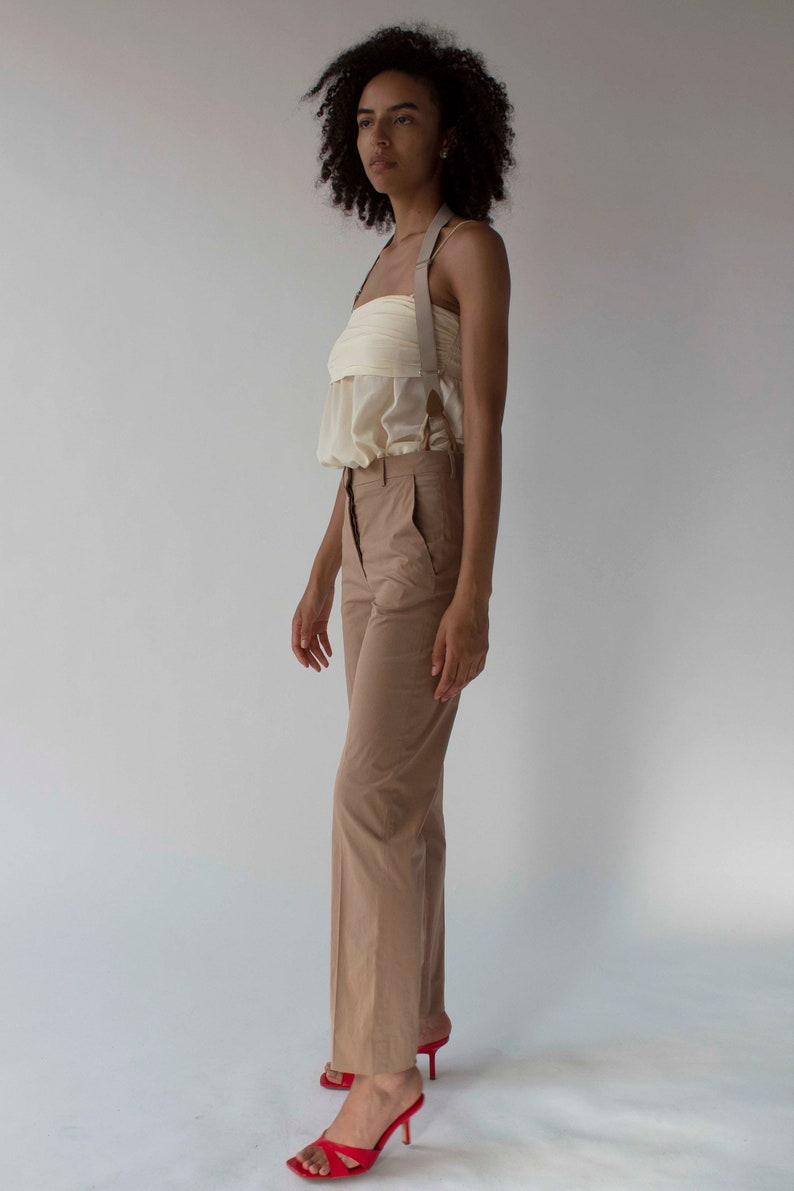 1990 Rare vintage Helmut Lang Trousers with suspenders c