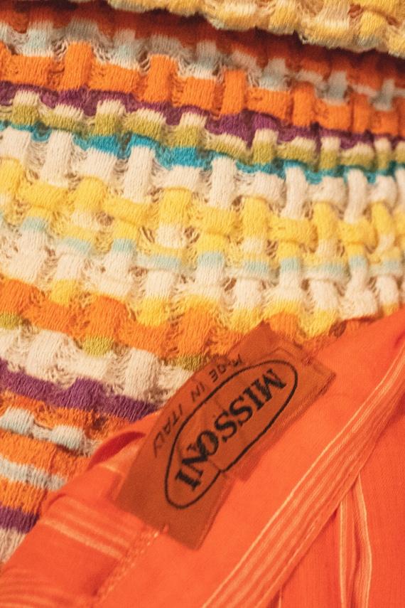 Missoni orange pleated cotton voile midi skirt - image 5