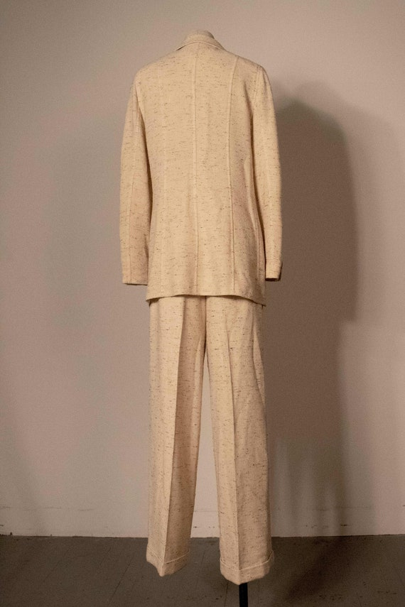 Chanel cream boucle two piece pant suit - image 5