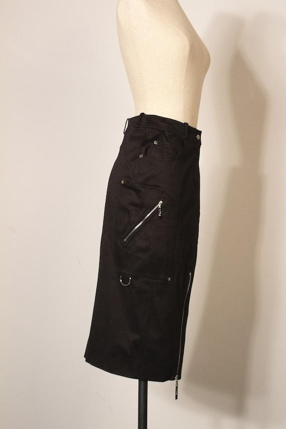 Christian Dior by John Galliano black cotton penc… - image 2