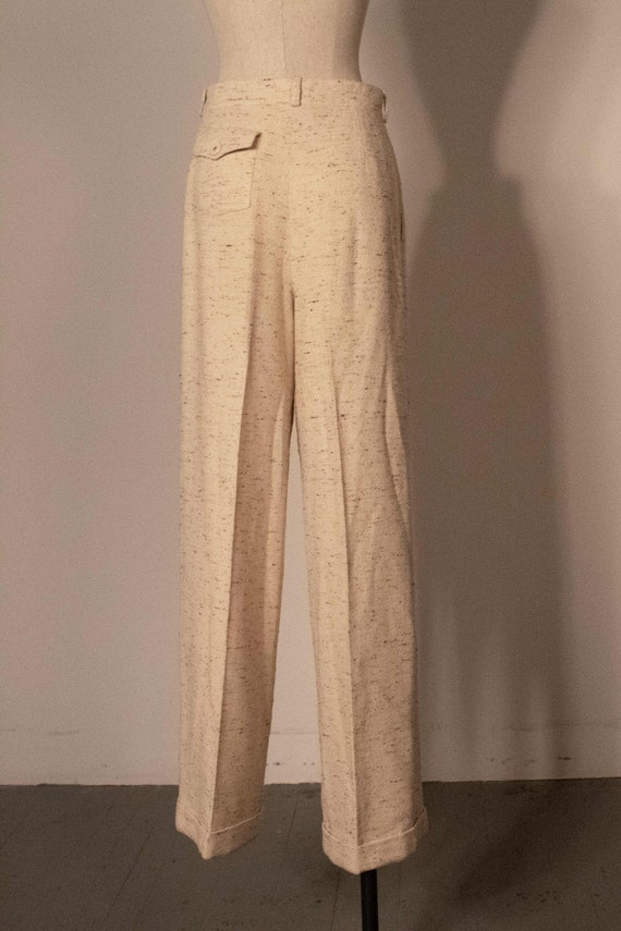 Chanel cream boucle two piece pant suit - image 6