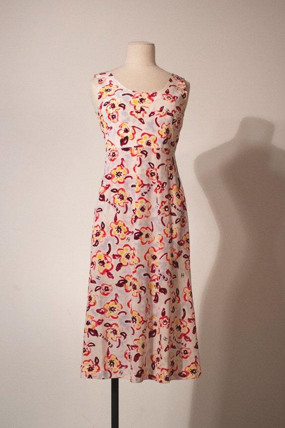 Chanel multicolor silk tank dress