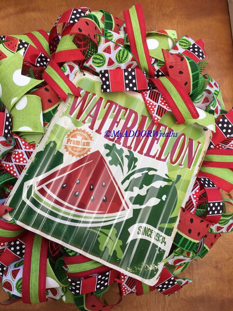 Watermelon Door Summer Fruit Wreath Summer Wreath Watermelon Wreath Summer Watermelon Deco Mesh Wreath Watermelon Decor Spring Wreath