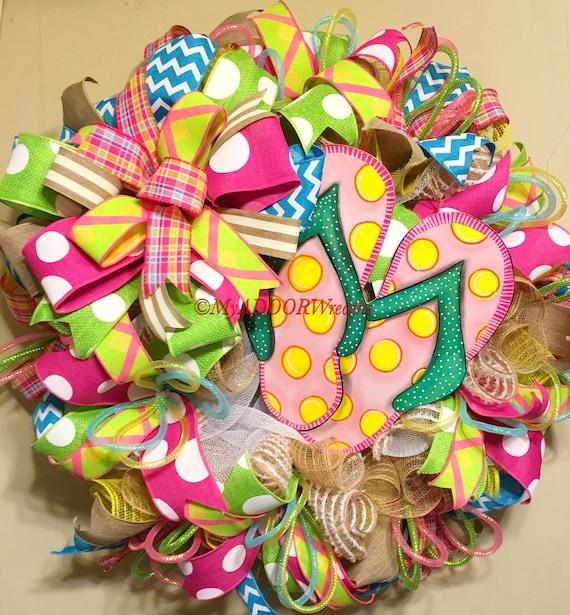 ea29b92debc88b Flip Flop Summer Wreath
