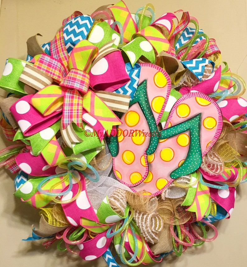 6504550df Flip Flop Summer Wreath Flip Flop Wreath Summer Flip Flop