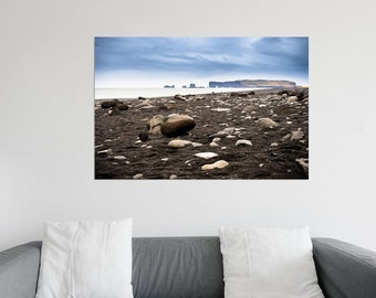 XXL Poster Island black beach photography 75 x 100 cm