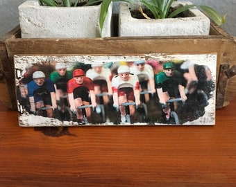 Wooden sign - Miniatures Renrad - Recycle wood print on wine box board upcycling