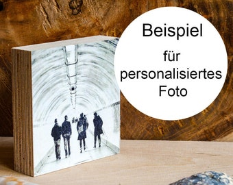 personalized wood print, your photo on wood,10 x 10 cm