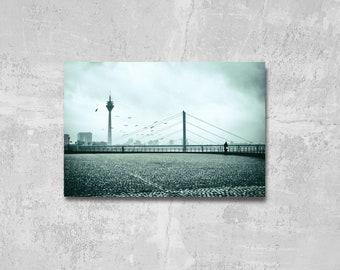 XXL Poster Düsseldorf with TV Tower Photography 75 x 100 cm