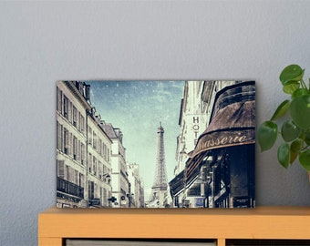Paris Eiffel Tower Aluminum Print 30 x 40 cm High Quality Aluminum Dibond Plate Mural Art Print