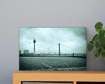 Düsseldorf TV Tower Alu-Print 30 x 40 cm high-quality Alu-Dibond Plate Mural Art Print