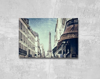 XXL Poster Paris with Eiffel Tower Photography 75 x 100 cm