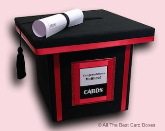 Graduation Cap Card Box Etsy