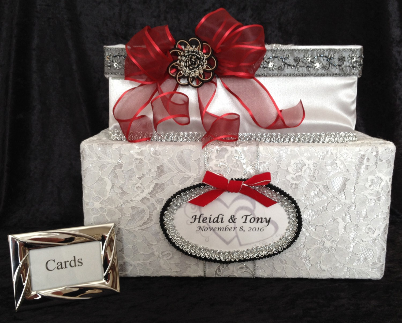 wedding card boxsilver card boxred wedding dresswedding   Etsy
