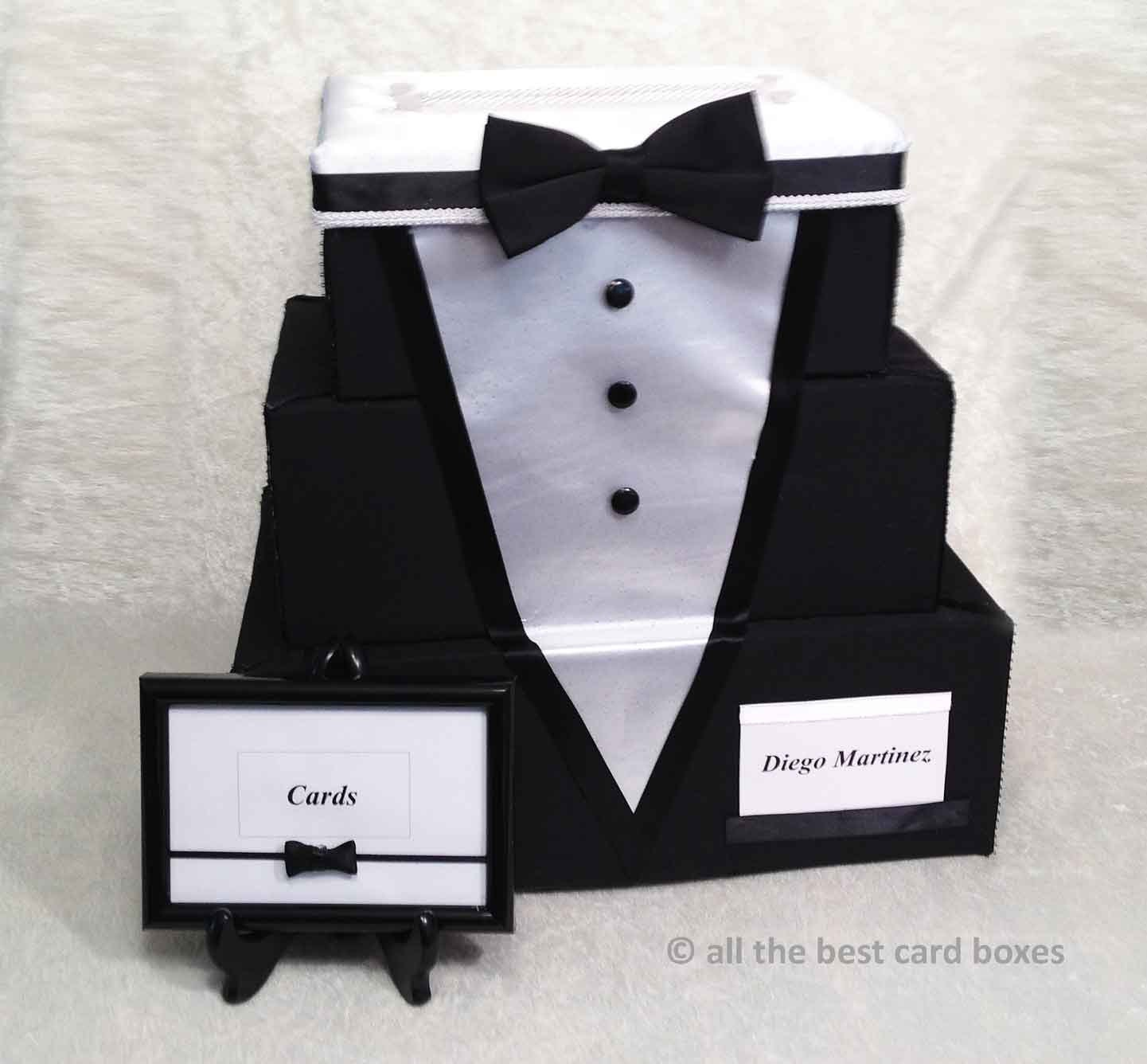 Smoking Wedding Card Box Smoking-Geschenk-Box schwarz