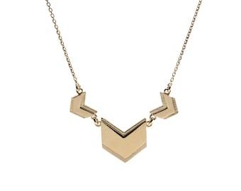 Gold necklace dainty - Gold chevron necklace - Dainty chevron jewelry