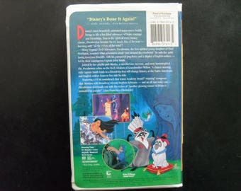 pocahontas VHS clamshell vintage