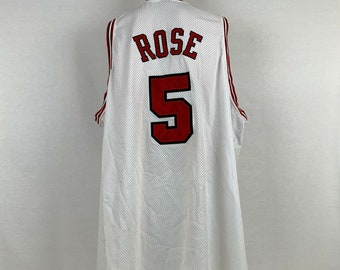d2161636f9d Nike Authentic Jalen Rose Chicago Bulls Jersey Size 60 4XL Vintage NBA Sewn