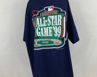 8ae88132ab4 Majestic 1999 Boston MLB All Star Game Fenway Park T-Shirt XL Vtg 90s  Baseball