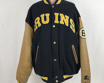 Starter Boston Bruins Wool Varsity Jacket L Vintage 90s NHL Hockey Sewn 3d77c5685