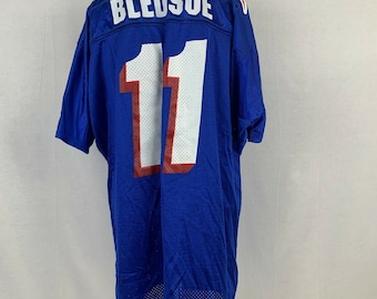 4b3b3388622 Wilson Drew Bledsoe New England Patriots Replica Jersey Vtg 90s NFL Size XL