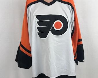 Vintage 90s Starter Philadelphia Flyers Air Knit Jersey XL White NHL Hockey  Sewn b4500c83c