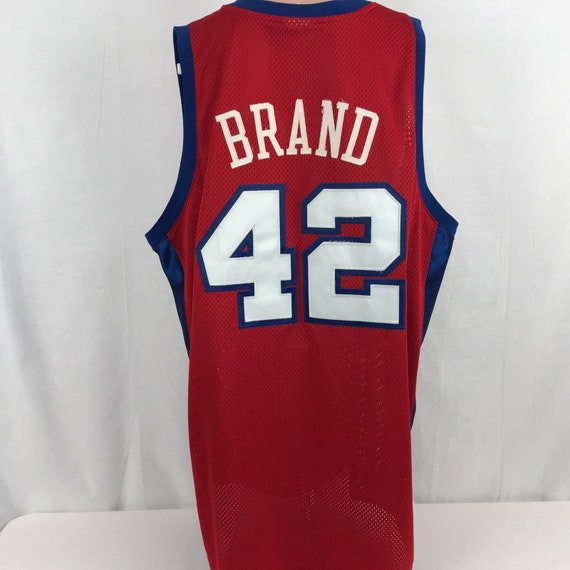 77b674652 Vintage Reebok Authentic Elton Brand Los Angeles Clippers