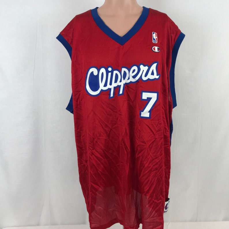 1267bb3f3a1 Vintage Champion Lamar Odom Los Angeles Clippers Jersey SZ 52