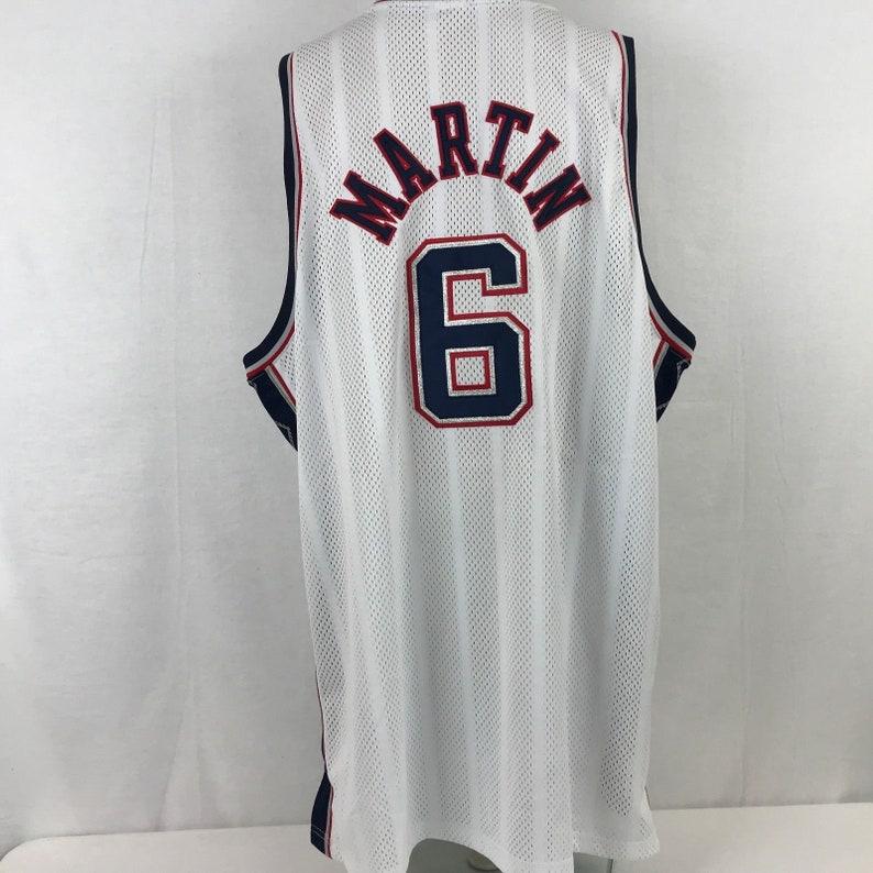 promo code 6f9f3 94cfd Reebok NBA Authentic Kenyon Martin New Jersey Nets Jersey SZ 56 XXXL New  with Tag