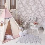 Tipi Tent Boho Pink - set teepee 5 el.