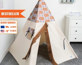 children teepee tent, kids teepee play tent, tipi, teepee tent, indian wigwam for boy Arrow