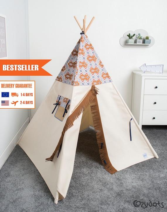 tipi enfant tente tipi tente indienne tente teepee tipi. Black Bedroom Furniture Sets. Home Design Ideas