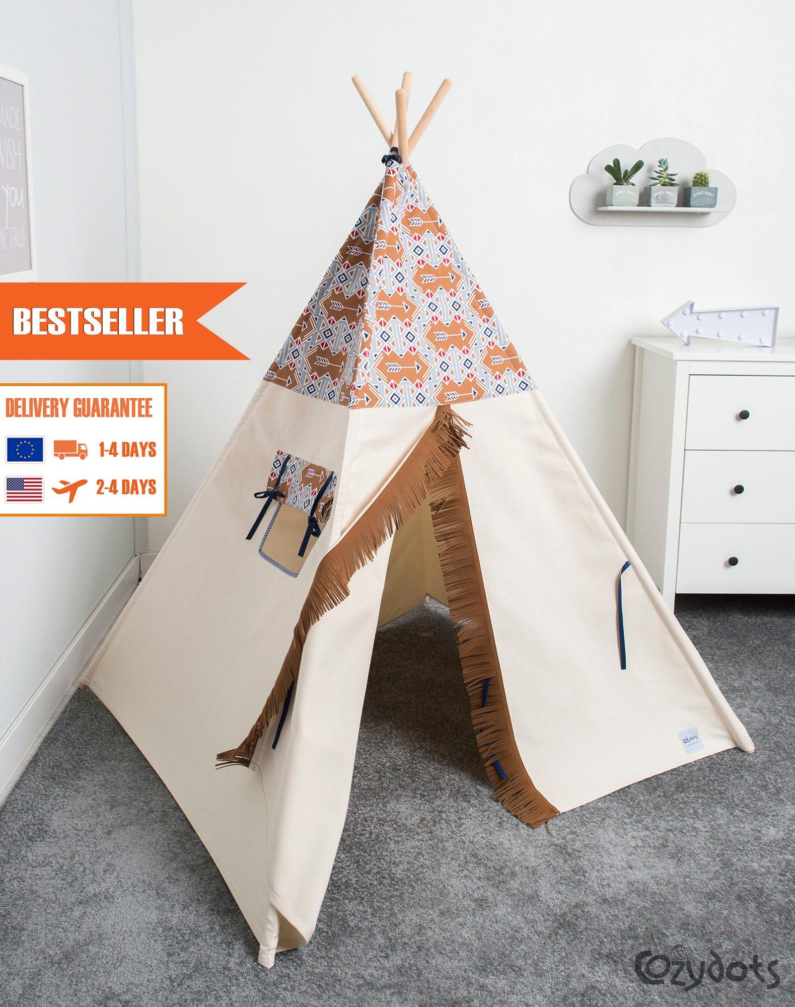 kinder tipi zelt spielen kinder tipi zelt tipi tipi zelt etsy. Black Bedroom Furniture Sets. Home Design Ideas