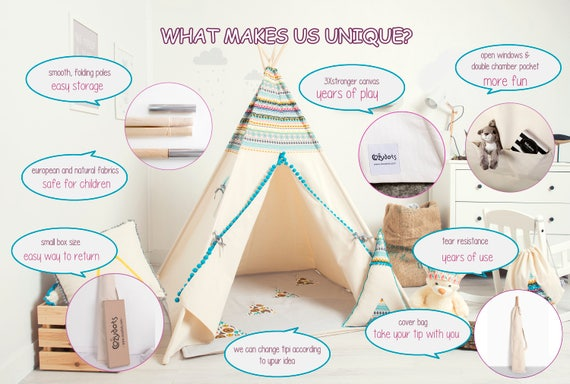 tipi enfant tente tipi tente indienne tente teepee. Black Bedroom Furniture Sets. Home Design Ideas