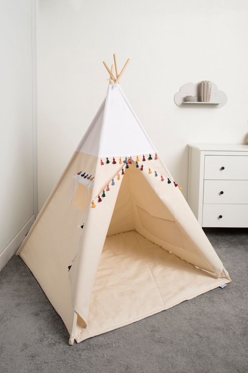 image 0 & Children teepee tent kids play tent tipi teepee tent set 4 | Etsy
