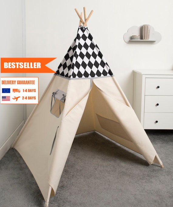 kinder tipi zelt spielen kinder zelt tipi tipi zelt etsy. Black Bedroom Furniture Sets. Home Design Ideas