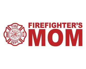 "Firefighter/'s Wife Reflective 3/"" Pink Maltese Cross Firefighter Decal Sticker"