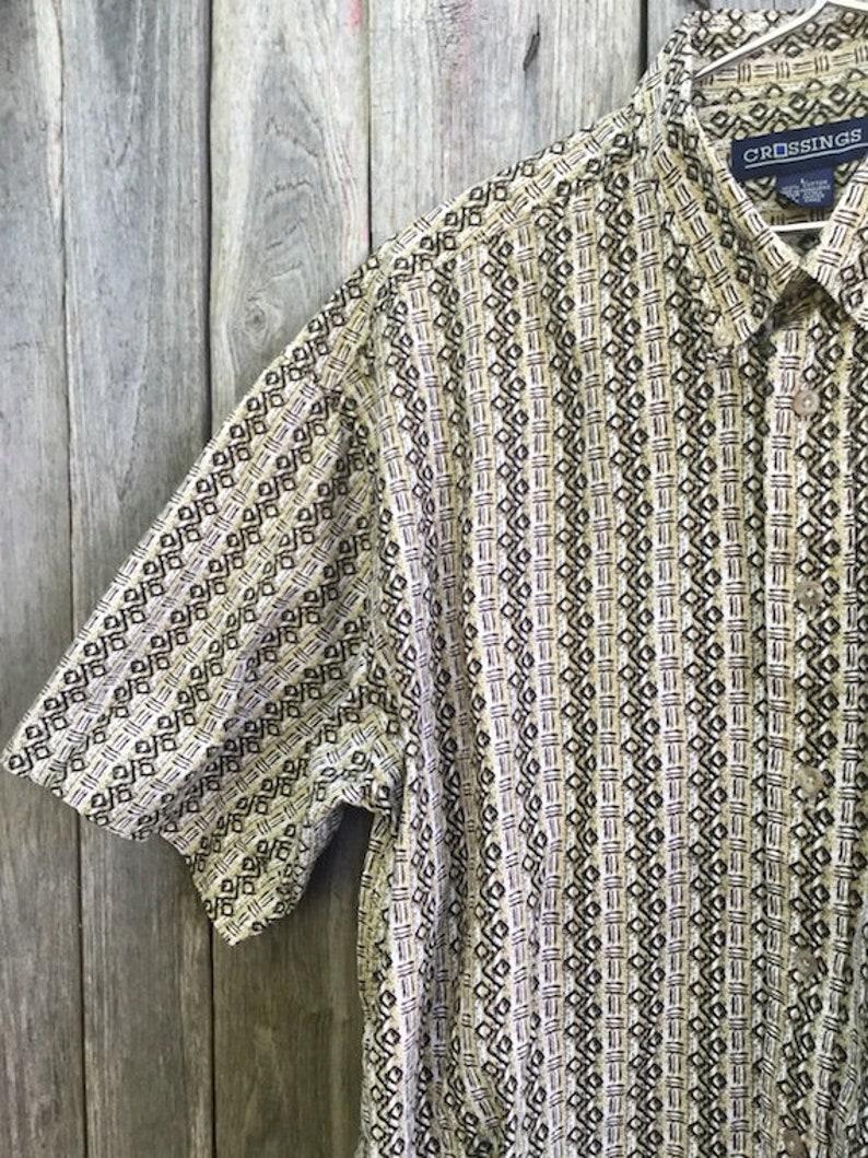 CamicIa Vintage 90s man size L 100/% cotton geometric pattern