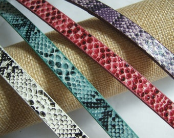sold by the meter cut in continuous lengths LC Nappa 10mm flat white  taupe snakeskin leather