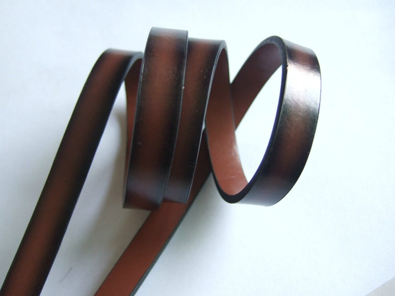 1 Meter Strips PU 10x2mm Flat Leather Cords for Bracelet Jewelry Findings Crafts