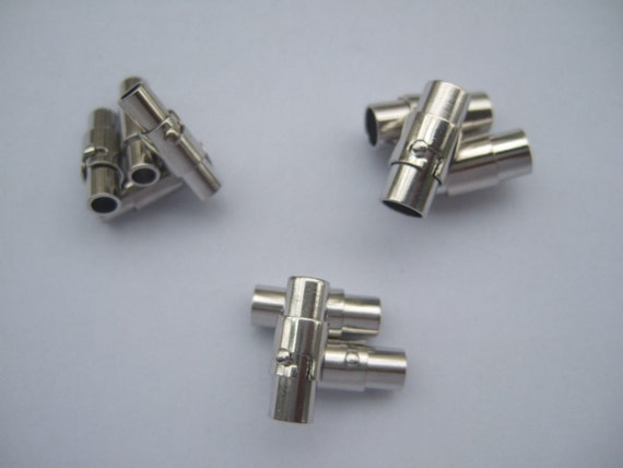 5MM HOLE MAGNETIC LOCKING JEWELLERY BARREL CLASP FOR BRACELET NECKLACE END CAP