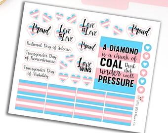 Transgender Pride // Planner Stickers