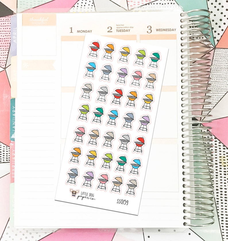 SS0159 // Grill // Planner Stickers image 0
