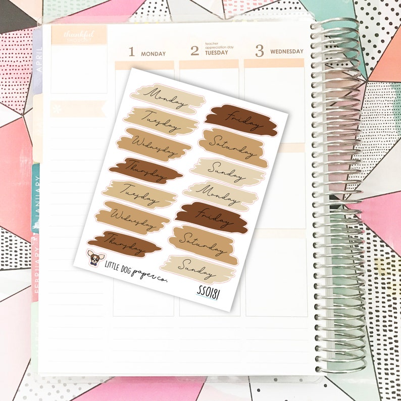 SS0181 // Scribble Weekday Covers // Neutral image 0