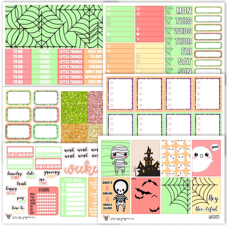 WK0105 // Hey Bootiful Collection // Planner Stickers image 0