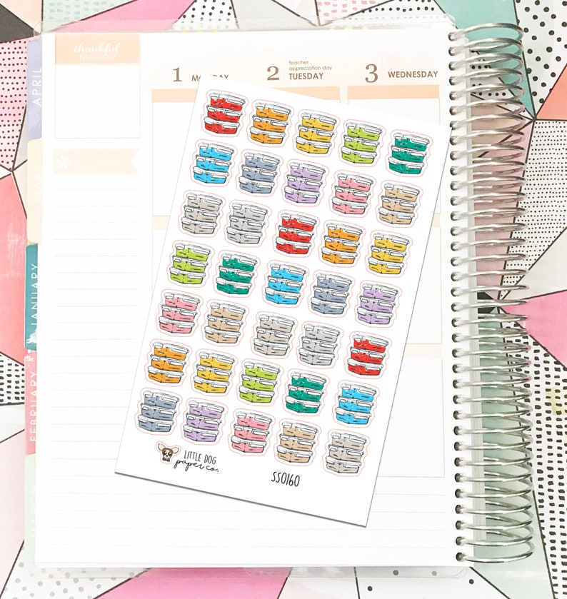SS0160 // Meal Plan // Planner Stickers image 0