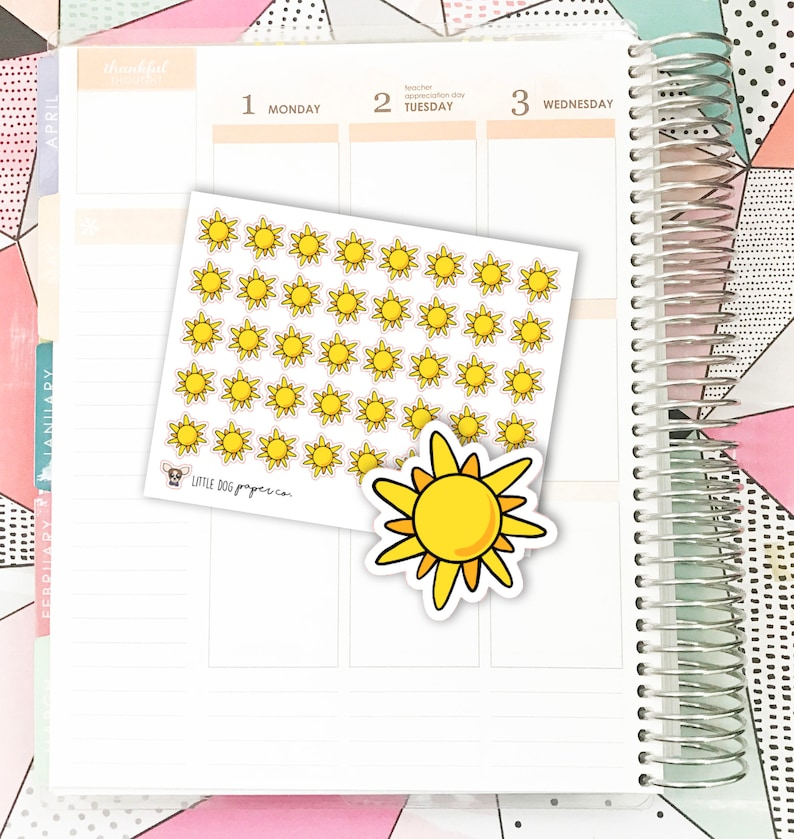 SS0164 // Sunny Weather // Planner Stickers image 0
